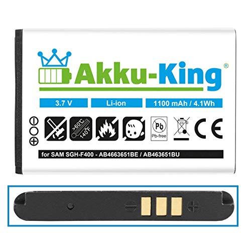 Akku kompatibel mit Samsung AB463651BE, AB463651BU - 1050mAh - für SGH-F400 J800 L700 C3330 S5610 ZV60, Emporio - Li-Ion