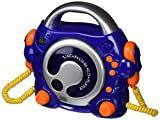 Big Ben, Portable CD Player with 2 Microphones (Blue) -
