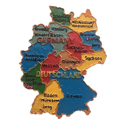 Kühlschrankmagnet Karte Deutschland 3D Harz Handgemachtes Handwerk Touristische Reise Stadt Souvenir Sammlung Brief Kühlschrank Aufkleber