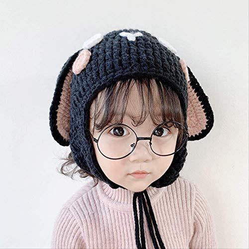 Mnjin Lindo Gorro de Animales Gorro de Animales para niños Orejeras de Punto de Lana de bebé