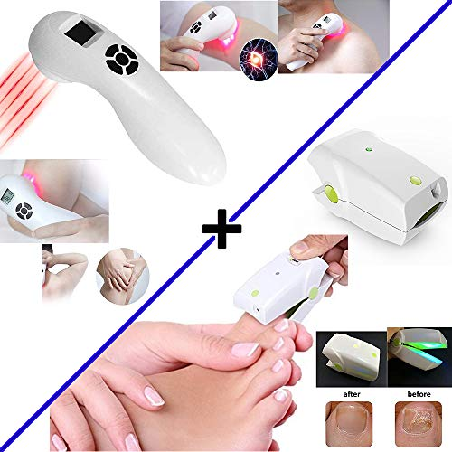 New Pain Relief Cold Laser + Nail Fungus Treatment Device Bundle