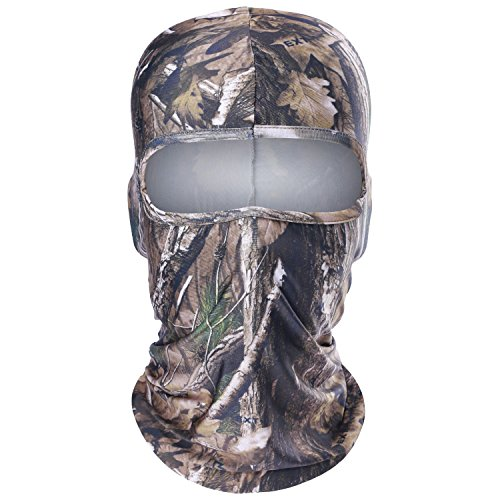 WTACTFUL 1 Pack - Breathable Camouflage Balaclava Helmet Liner Face Mask Protection for Hunting Hiking Tactical Climbing Camping Motorbike Hunter Cycling Motorcycle Ski Snowboard Summer Outdoor Sports