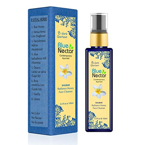 Blue Nectar Ayurvedic Honey and Aloevera Face Wash for Women and Men. For All Skin Types - 100 Ml