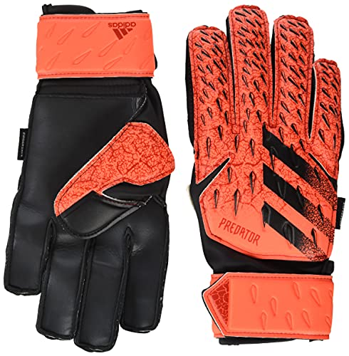 adidas Unisex-Child Fingersave Predator Match Glove, Solar Red/Red/Black, 7