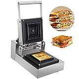 Haushaltsgeräte Küchengeräte Gewerbliche Sandwichmaschine Rechteckige gewerbliche Sandwichpresse 1-Scheiben-handelsübliche Panini-Maschine 1250 W Brotpresse Toaster 50-300℃Sandwich Maker 5 x 5 Zo