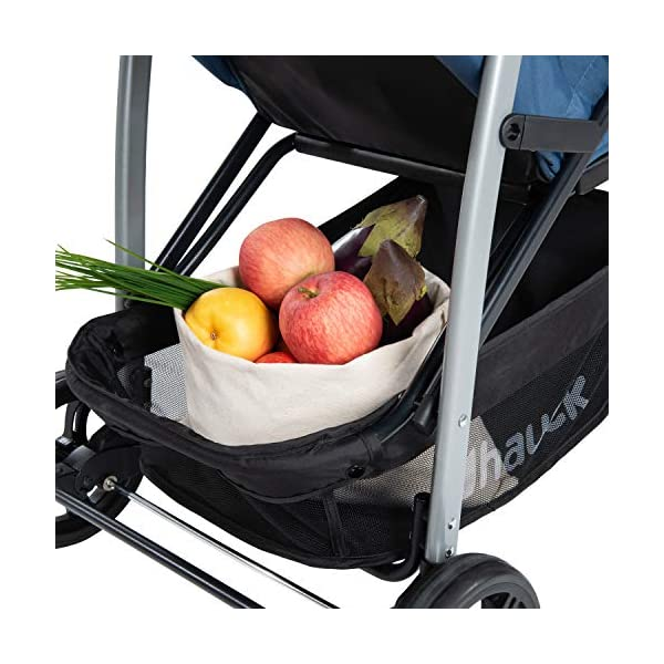 Hauck Rapid 4, 0 Months to 22 kg, Foldable, Compact, with one Hand, with Sleep Position, Height Adjustable Handle, Large Basket - denim/grey, Rapid 4, Up to 25 Kg Hauck Easy folding this pushchair is as easy to fold away as possible - the comfort stroller can be folded with one hand only within seconds, leaving one hand always free for your little ray of sunshine Long use this buggy can be used for a very long time. it is suitable from birth (also compatible with 2in1 carrycot or comfort fix infant car seat) up to a maximum of 22kg Comfortable back friendly push handle adjustable in height, the hood extendable; suspension, swivelling front wheels, soft padding, and large shopping basket 28