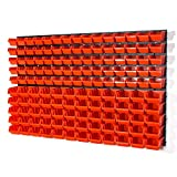 Lager Werkstatt Wandregal Lagerregal 75 Stapelboxen Orange Gr.1, 60 Stapelboxen Orange Gr.2 +...