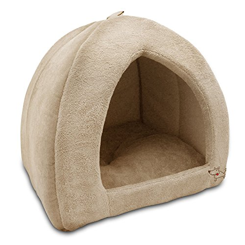 Best Pet Supplies Best Pet SuppliesPet Tent-Soft Bed for Dog and Cat Tan, 18' x 18' x H:16' (TT606T-L)