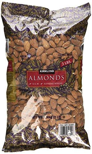Kirkland Signature Supreme Whole Almonds, 3 Pound