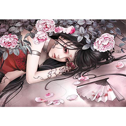 Puzzle 1000 Stück hölzerne Anime Kinderpuzzle Landschaft große und schwierige Geschenk-1000 Tattoos