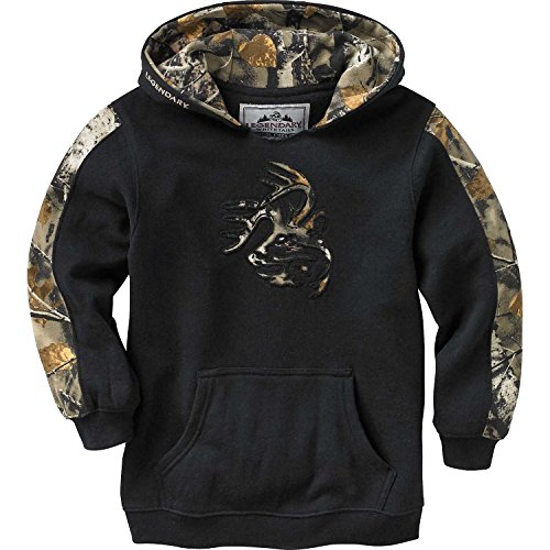Legendary Whitetails Youth Outfitter Hoodie Onyx X-Small