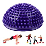 Spiky Massage Ball Foot Cushions for Muscle Pain Relief from Plantar Fasciitis, FUNUP Body Deep Tissue Muscle Acupressure Reflexology Ball (Purple, Half a Sphere)