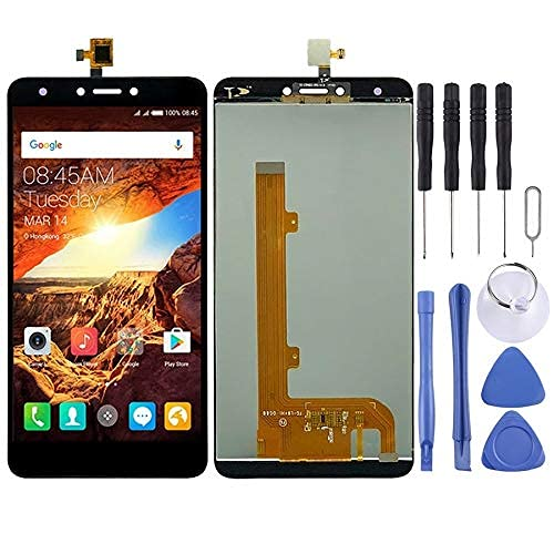 JOEMEL Mobile Phone Replacement Parts LCD Screen and Digitizer Full Assembly for Tecno Spark Plus K9 (Black) Flex Cable (Color : Black)