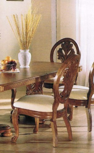 Kitchen Furniture Review 2013: Set of 2 Dining Chairs Medium Oak ...