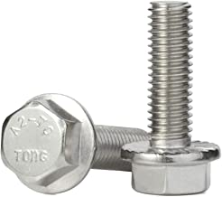 M8-1.25 x 35mm Flanged Hex Head Bolts Flange Hexagon Screws, Stainless Steel A2-70, DIN 6921, 15 PCS