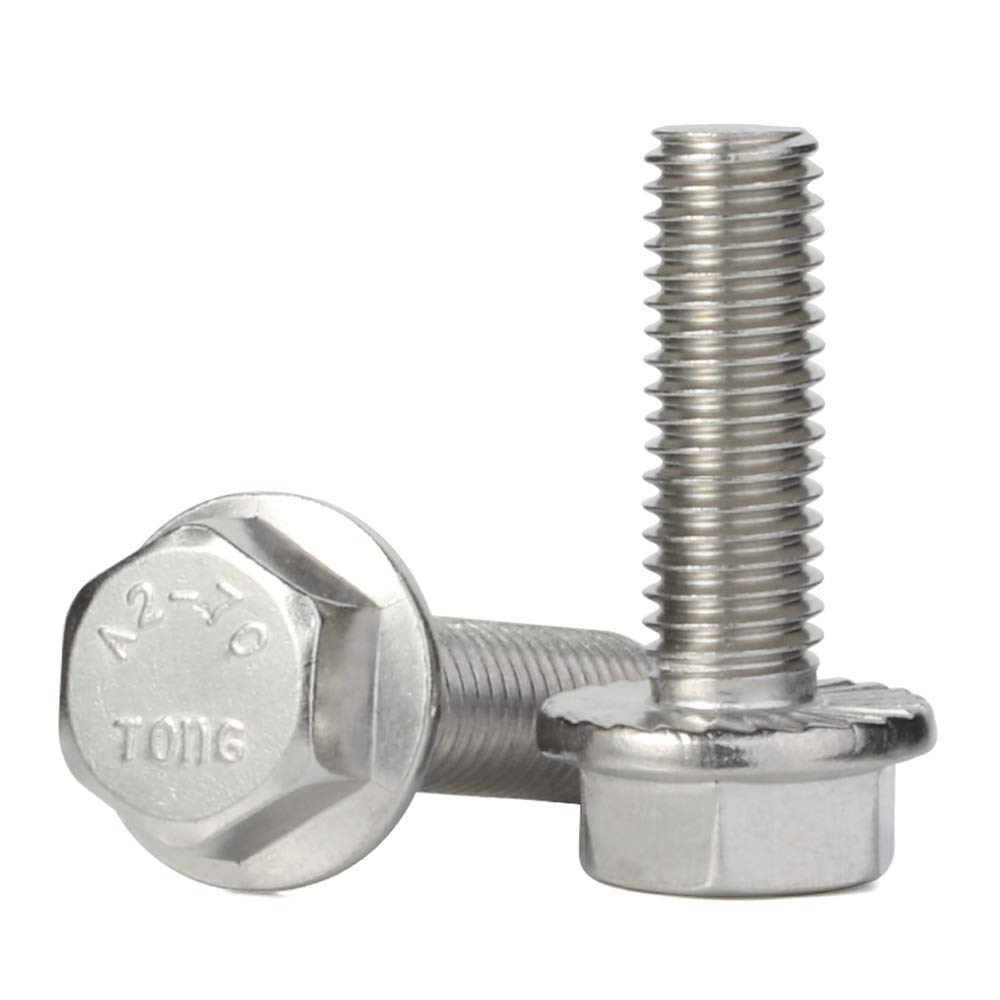 M5-0.8 x 12mm Flanged Hex Head Hexagon Flange Ranking TOP4 Stai Screws Free Shipping New Bolts
