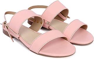 Blinder Womens Buckle Flat Sandal