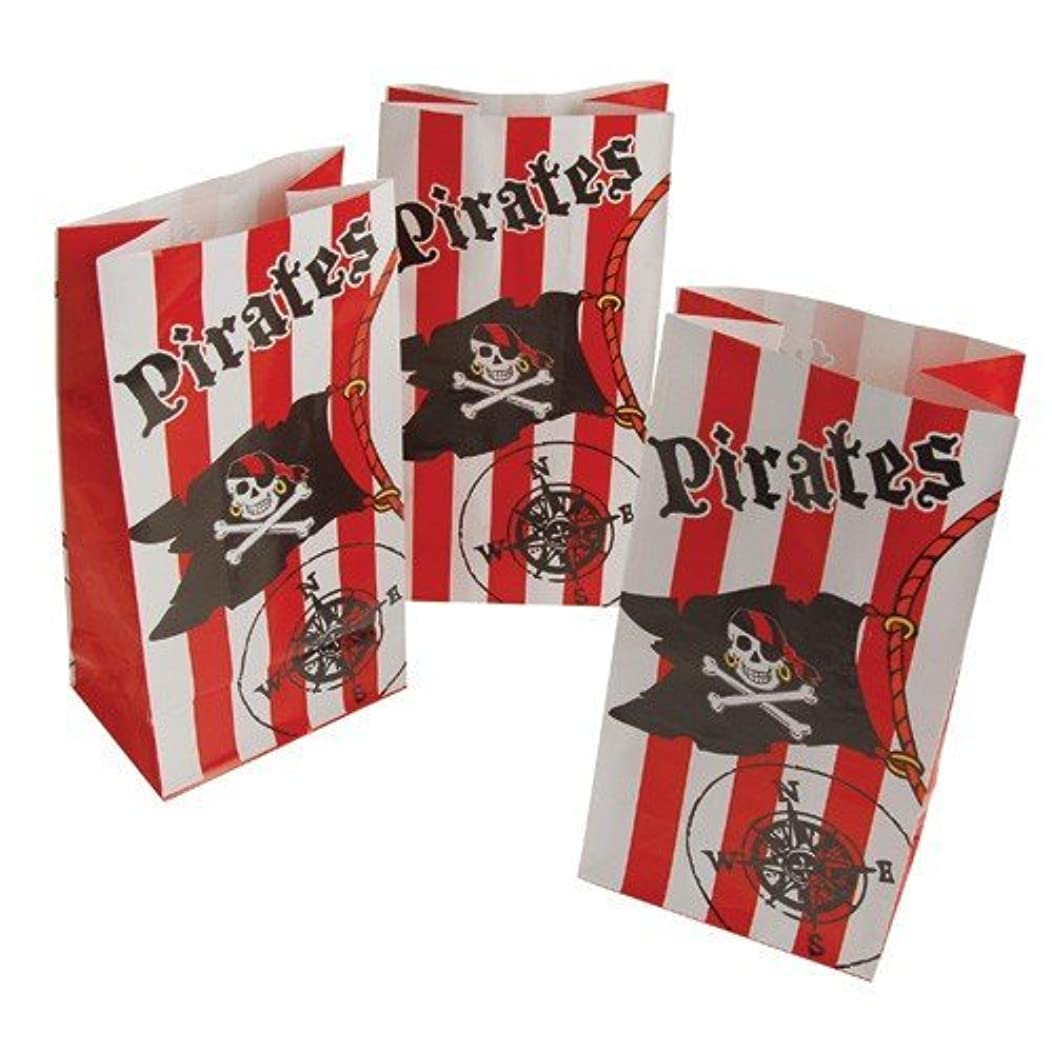 2 Dozen (24) Paper PIRATE Party GOODY Bags/Gift/LOOT BAGS for PARTY Favors/Parties/Booty/TREASURE/CANDY/SWEETS