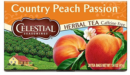 Celestial Seasonings Herbal Tea, Country Peach Passion, 20 Count (Pack of 3)