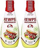 Kewpie Mayonnaise - Japanese Mayo Sandwich Spread Squeeze Bottle - 12 Ounces,2 Pack