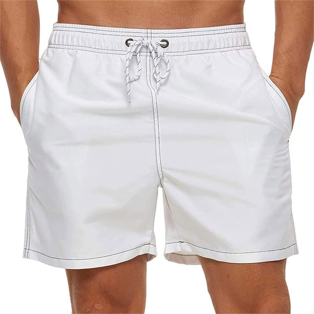 Men's Casual Loose Shorts Solid Color Fit Quick-Drying