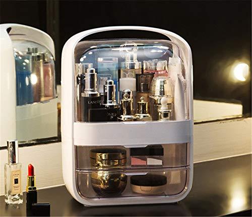 DSGYZQ Caja de Almacenamiento de cosmética Transparente Polvo a Prueba de Polvo Doctora de Escritorio Cuidado de la Piel Cuadro de Almacenamiento de Productos Portátil y portátil,Pink 2,XL