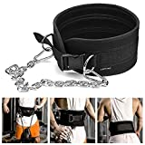 Balight Thick Weight Lifting Belt With Chain Dipping Belt For Pull Up Chin Up Kettlebell Barbell Fitness...