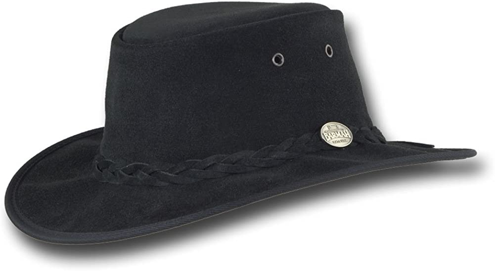 Barmah Hats Foldaway Max 71% OFF Cattle Suede Leather Hat - Max 52% OFF Item 1061