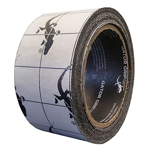 Gator Grip: Premium Grade High Traction Abrasive Non Slip 60 Grit Indoor Outdoor Anti-Slip Adhesive Grip Safety Tape, 2 Inch x 15 feet, Black – used on stairs, docks, treads, boats, ramps