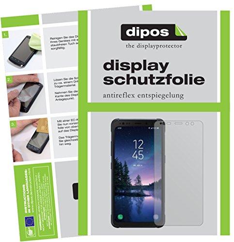 dipos I 2X Schutzfolie matt kompatibel mit Samsung Galaxy S8 Active Folie Displayschutzfolie