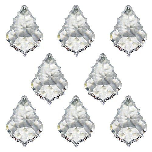 Christoph Palme Leuchten - Cristal de Swarovski  péndulo  barroco  38 mm  8 unidades  colgante  adorno para la ventana y accesorios para casas  atrapasoles  cristal arcoíris  Feng Shui  alto brillo