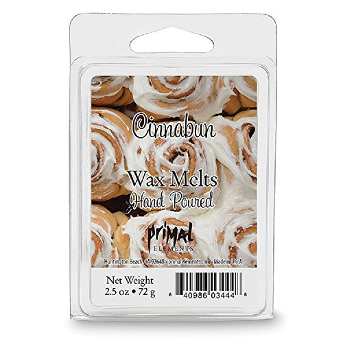Primal Elements Wax Melt, Cinnabun, 2.5 Ounce