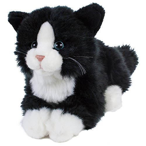 Kuscheltier Katze Kätzchen Kater Boots 22 cm (30 cm mit Schwanz) Plüschtier Plüschkatze schwarz/weiß