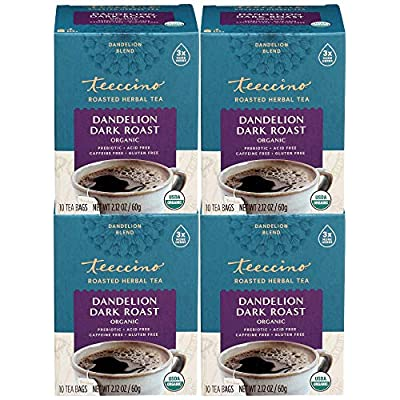 Teeccino Dandelion Tea Sampler - Caramel, Coconut, Dark Roast, Mocha Mint, Red Chai, Turmeric - Prebiotic Coffee Substitute | Caffeine Free | Gluten Free | Coffee Alternative, 12 Tea Bags (Pack of 2)