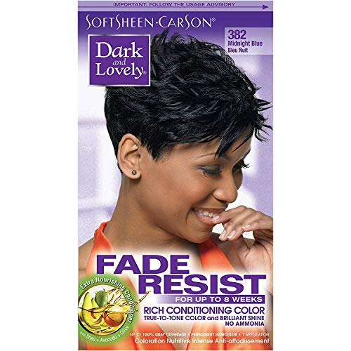 Dark and Lovely Fade Resistant Rich Conditioning Color, No. 382, Midnight Blue, 1 ea