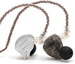 KZ ZSN Pro In-Ear Monitors 1BA and 1DD Double Driver IEM Hybrid in Earphone With Detachable Cable of 2Pin 0.75mm Connector and 3.5mm Jack (Without MIC, Gray)