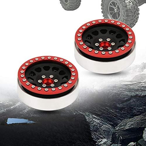 Tomantery Style High-End Mecanizado CNC 2.2 Pulgadas RC Wheel Beadlock RC Car Accesorios para 1:10 RC Car(2 Pieces)