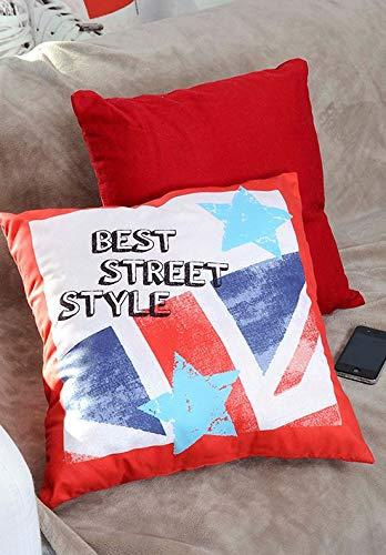 Coussin - 40 x 40 cm - Best Street - Drapeau & étoiles