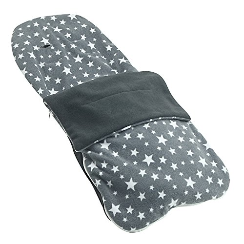 Snuggle–Carcasa verano saco compatible con Hauck Shopper Freerider Duett–gris Star