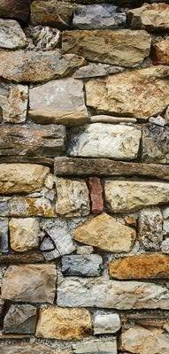 Banner - Thema: Ganzjährig - Steinmauer - 180cmx90cm - zum Hängen & Dekorieren