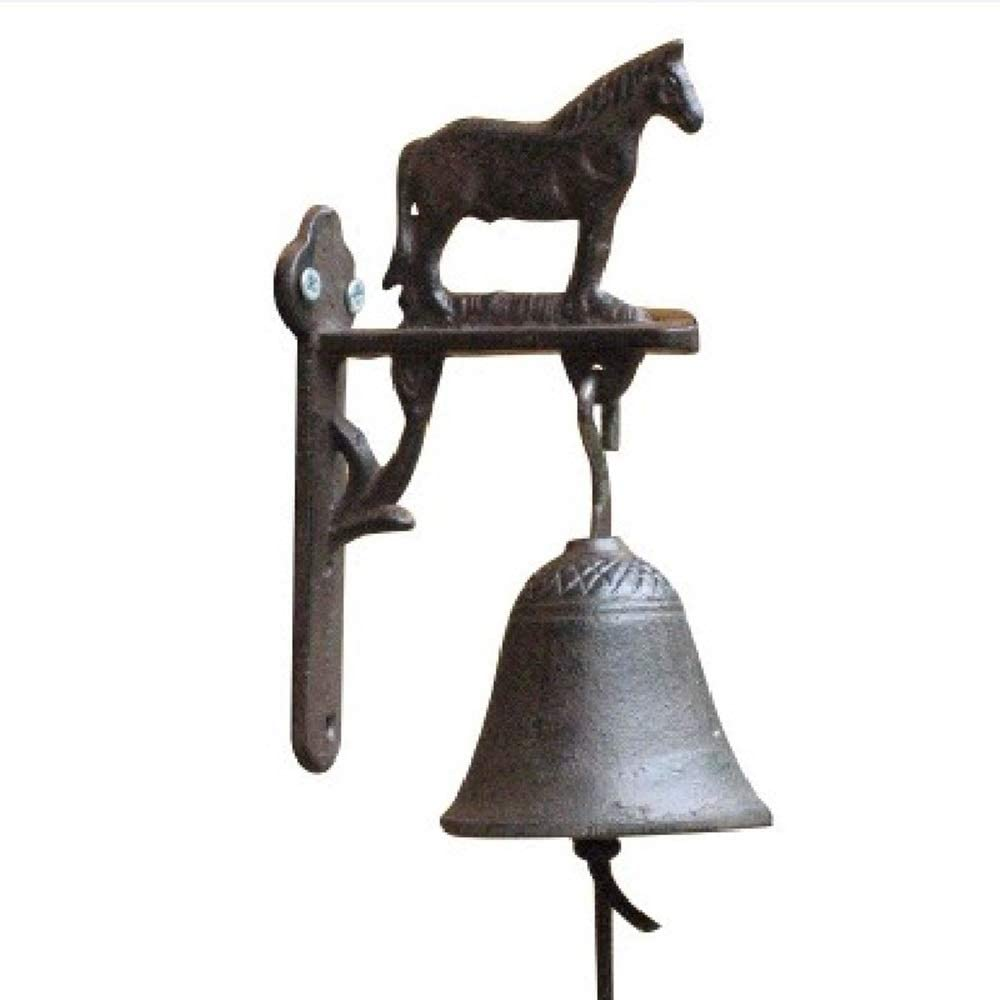 Retro Doorbell Vintage Wrought Don't miss the campaign Austin Mall Iron Cast H Decorative Horse
