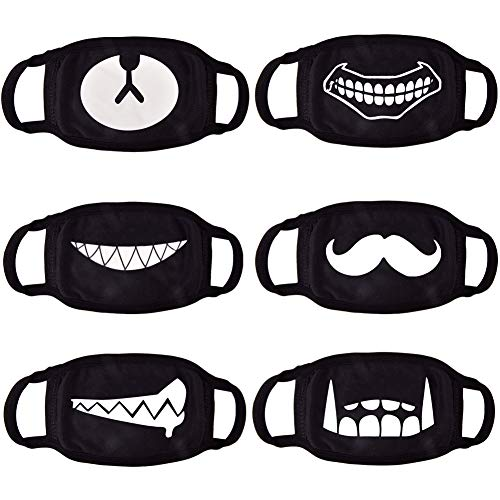 CIKIShield 6pack Ayo and Teo Face Mask for Adults Man Woman,Anti Dust Face Kids(Only fit over 10 years old)