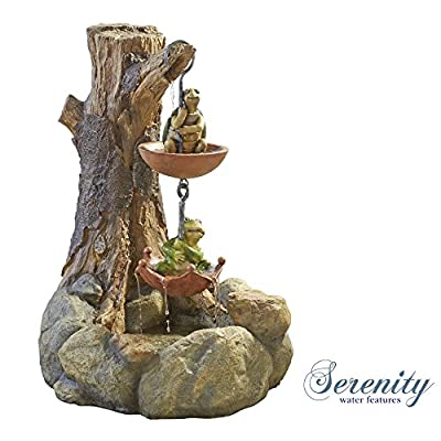 Turtle and Frog Fountain Garden Lawn Patio Outdoor Decking. from Clifford James