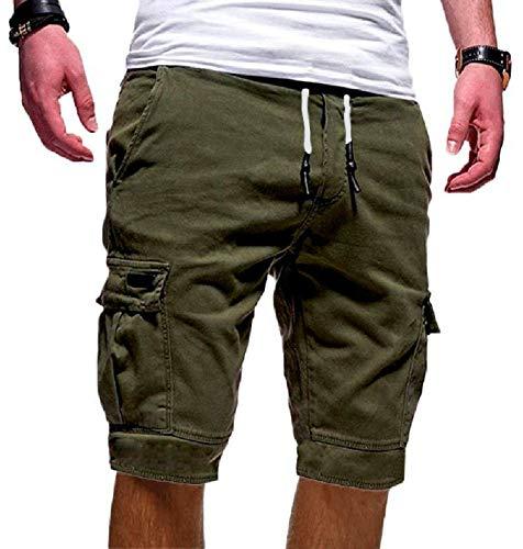 Socluer Pantaloncini Sportivi da Uomo Pantaloni Corti Estivi Bermuda da Shorts con Tasche Uomo Casual Loose Pantaloncini Cargo Uomo