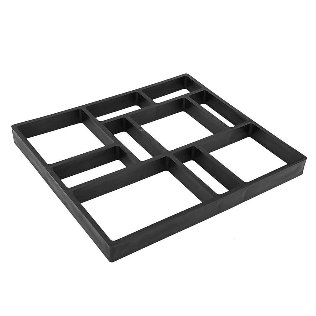 ホイットニー会計士助けてSaikogoods DIY不規則な/矩形パターンパーソナライズされた舗装のコンクリートレンガ石屋外装飾庭パスのメーカー芝生 黒