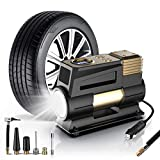 WOLFBOX Portable Air Compressor for Car Tires,12V DC Digital Tire Inflator Portable Air Compressor, Car Air Pump with LED Light, Tire Pump with Fast Inflation for Car,Bicycle,Other Inflatables