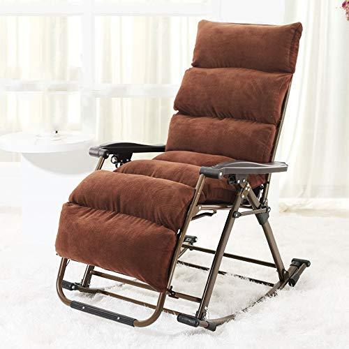 Chair Chaise longue à bascule Zhaizhen - Pliable - Cadre en acier et tissu textilène - Idéale pour profiter des chaudes journées d'été - Réglable en 3 positions