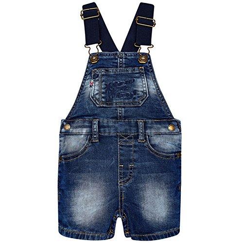 Mayoral - Baby Jungen Kurze Latzhose Jeans, Jeans - 1658, Größe 92