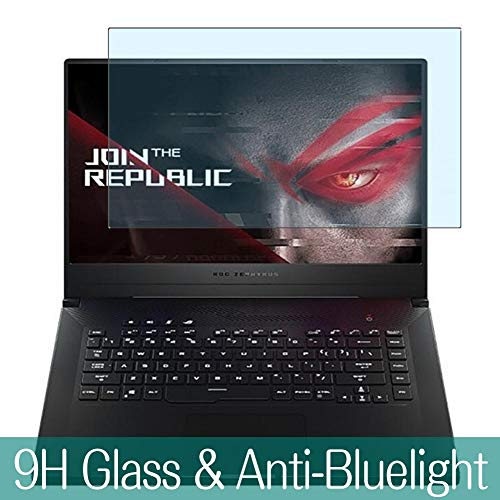 Synvy Anti Blue Light Tempered Glass Screen Protector for ASUS ROG Zephyrus M GU502 / GU502GV / GU502GU 15.6' Visible Area 9H Protective Screen Film Protectors