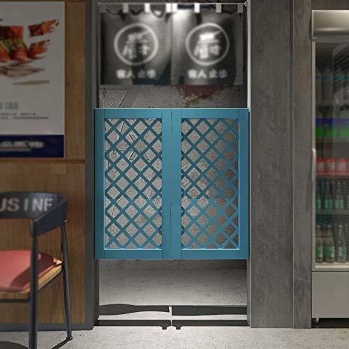 JIANFEI Cafe Puertas Contrapuertas, con 4 Bisagras/2 Postes De Puerta, Madera Maciza Interior Decoración Puerta De La Cerca, Bar Dividir Pantalla, Automático Apagar (Color : White, Size : 80x90cm)